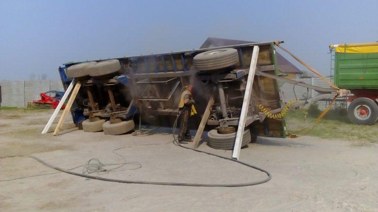 piaskowanie naczepy