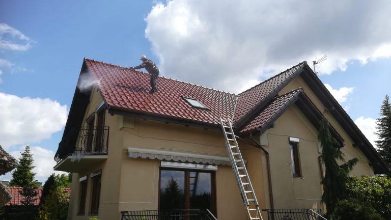 alpinistyczne czyszczenie dachu