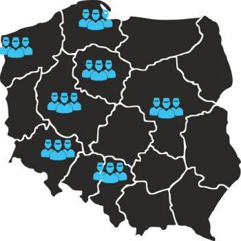 mapa zasięgu centrum uslug czyszczenia